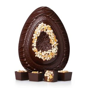Dark Chocolate and Orange Premium Easter Egg tablet