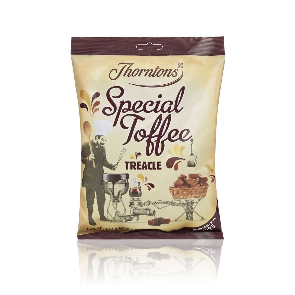 The first time I had a Thorntons Toffee I was bored at the airport waiting to leave the UK. I grabbed a small bag of caramels to kill time, but five minutes later they were all gone so I went back bought three large boxes of which two made their way home.