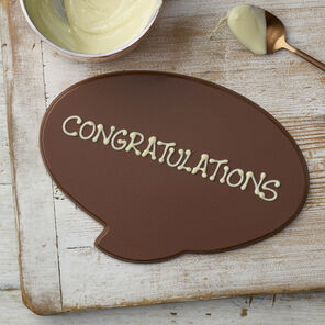 Personalised Milk Chocolate Speech Bubble
