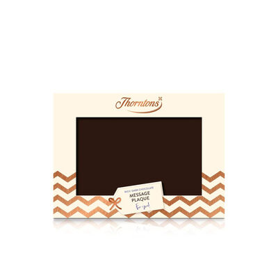 Personalised Dark Chocolate Message Plaque desktop