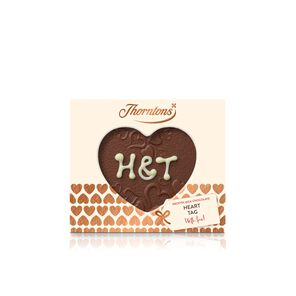 Personalised Milk Chocolate Heart Tag tablet