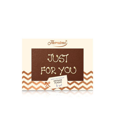 Personalised Milk Chocolate Message Plaque desktop