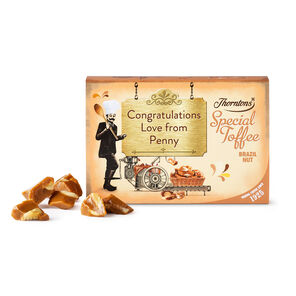 Personalised Brazil Nut Toffee Box tablet