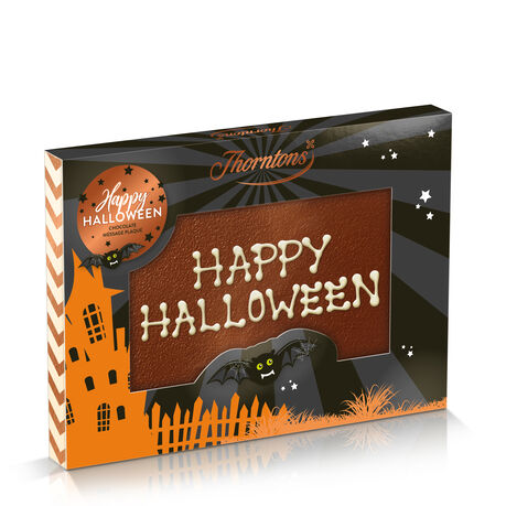 Halloween Sleeved Milk Chocolate Message Plaque
