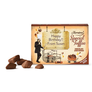 Personalised Chocolate Smothered Toffee Box tablet
