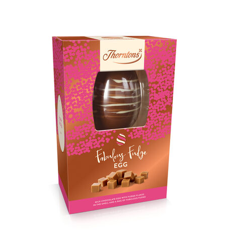 Milk Chocolate and Fudge Easter Egg