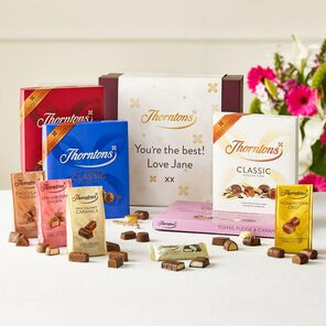 Personalised Classic Flavours Chocolate Hamper tablet