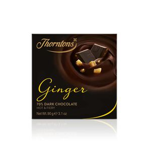 70% Dark Ginger Chocolate Block tablet