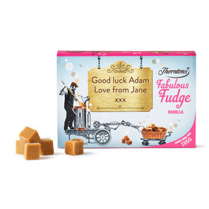 Personalised Vanilla Fudge Box tablet