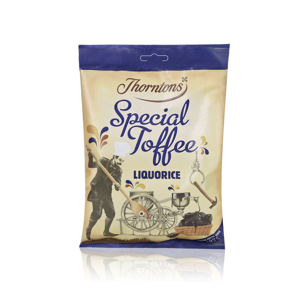 Thorntons Liquorice Special Toffee Bag (300g)