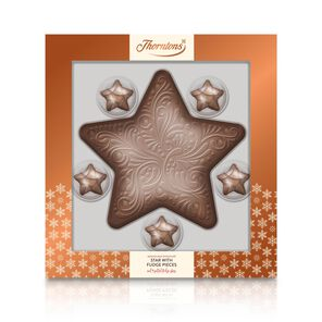 Large Milk Chocolate Model Star with 5 Salted Fudge Stars tablet