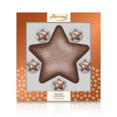 Large Milk Chocolate Model Star with 5 Salted Fudge Stars desktop