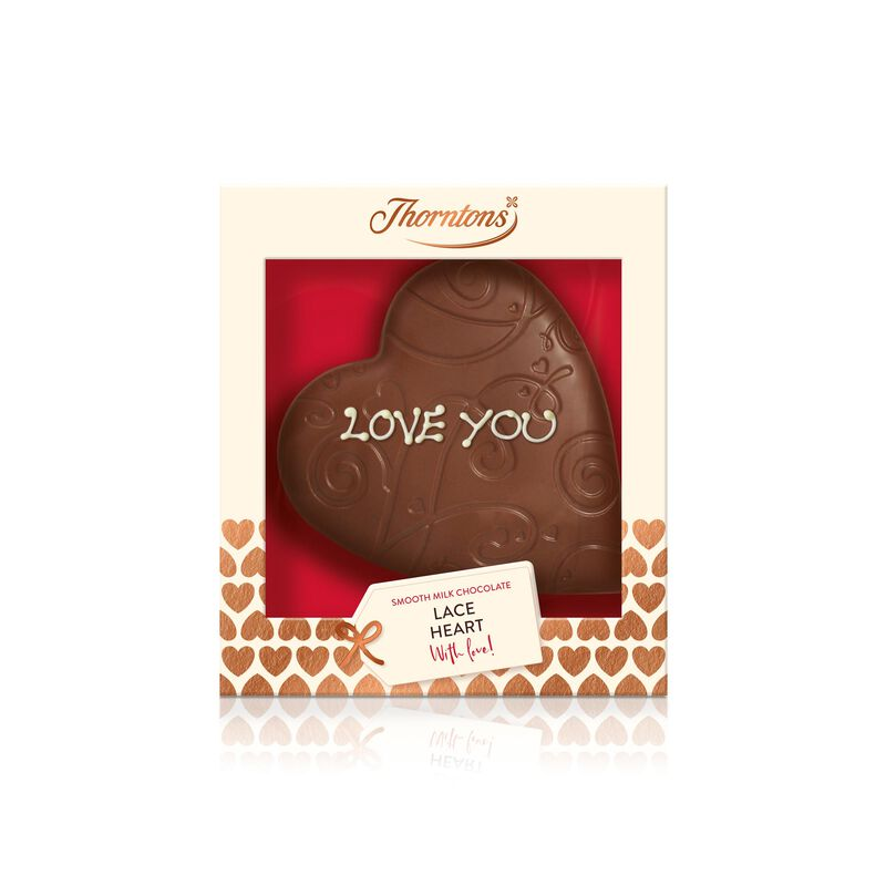 Milk Chocolate Lace Heart Model