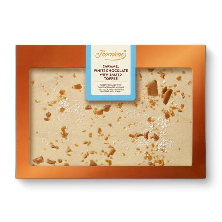 Caramel White Chocolate With Salted Toffee Block