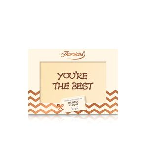 Personalised White Chocolate Message Plaque tablet