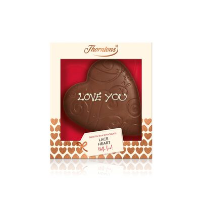 Milk Chocolate Lace Heart Model desktop
