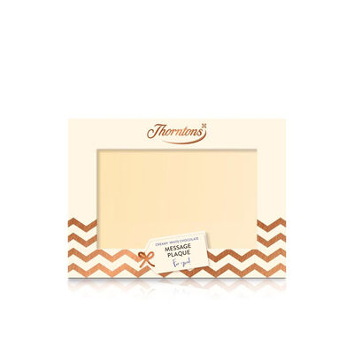 Personalised White Chocolate Message Plaque desktop