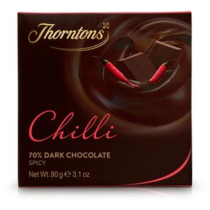 70% Dark Chilli Chocolate Block tablet