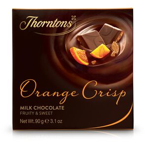Orange Crisp Chocolate Block tablet