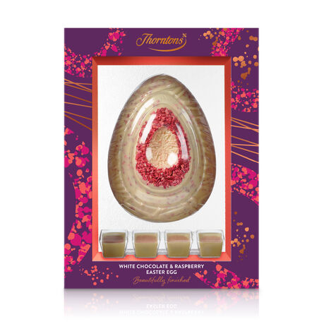 White Chocolate and Raspberry Easter Egg