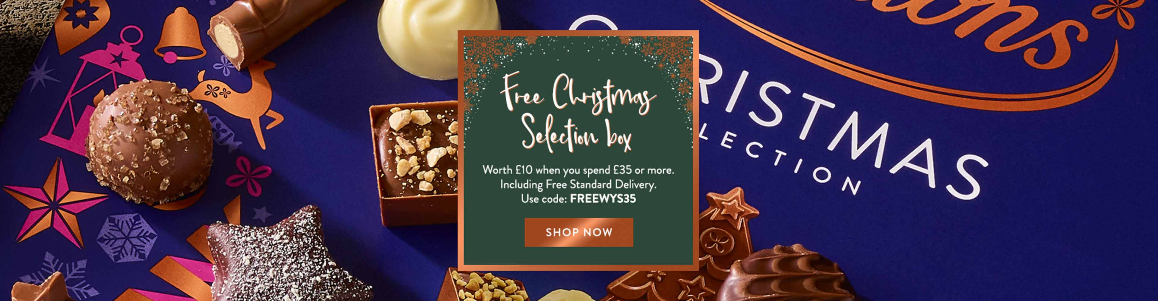 this is a delicious selection of 31 festive chocolates for you to enjoy at Christmas