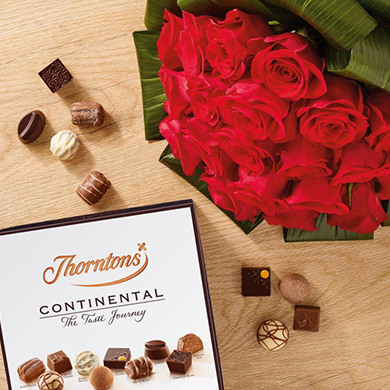 Flowers and chocolate gifts image