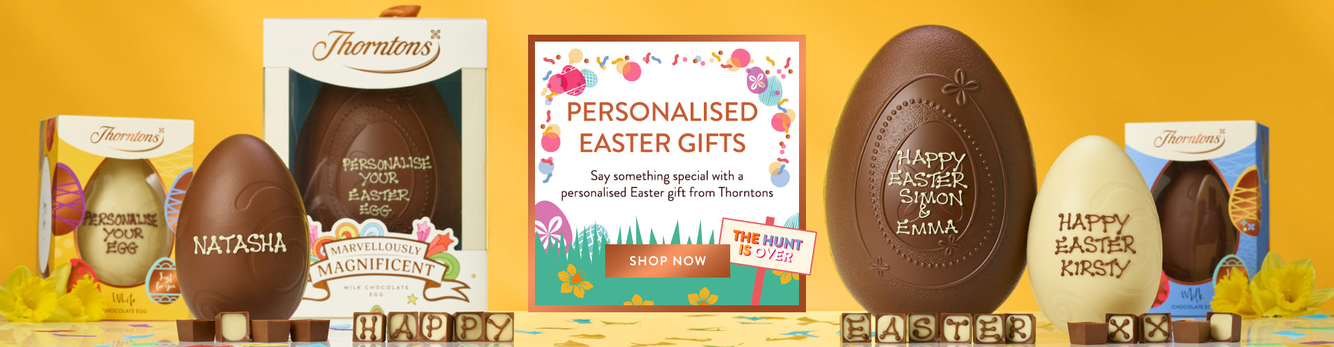 Say something special with a personalised Easter gift from Thorntons. Our expert icers have it all in hand, creating incredible Easter gift ideas exclusively for everyone.