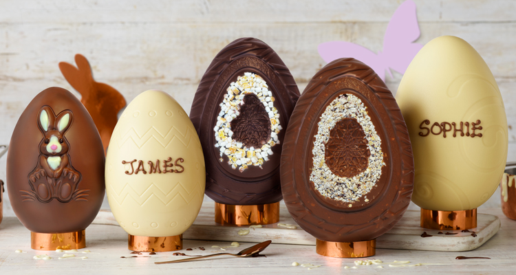 We have a selection of personalisable Easter eggs, your way to say something special this Easter.