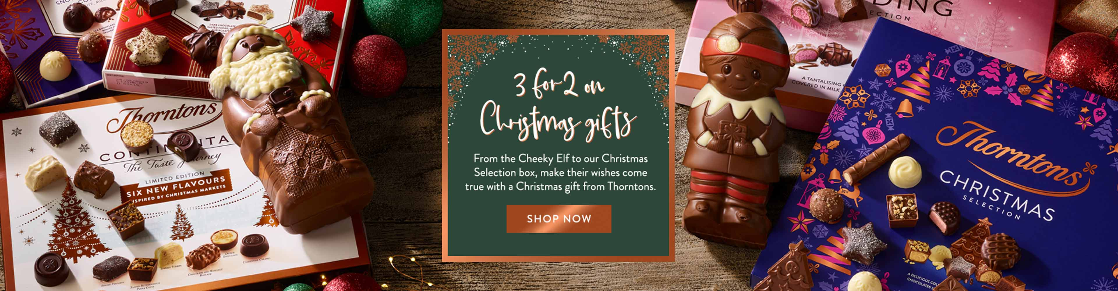From the Cheeky Elf to our Christmas Selection box, make their Christmas wishes come true with a Christmas gift