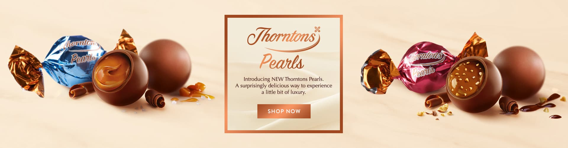 six individual Thorntons Pearls wrapped and unwrapped.