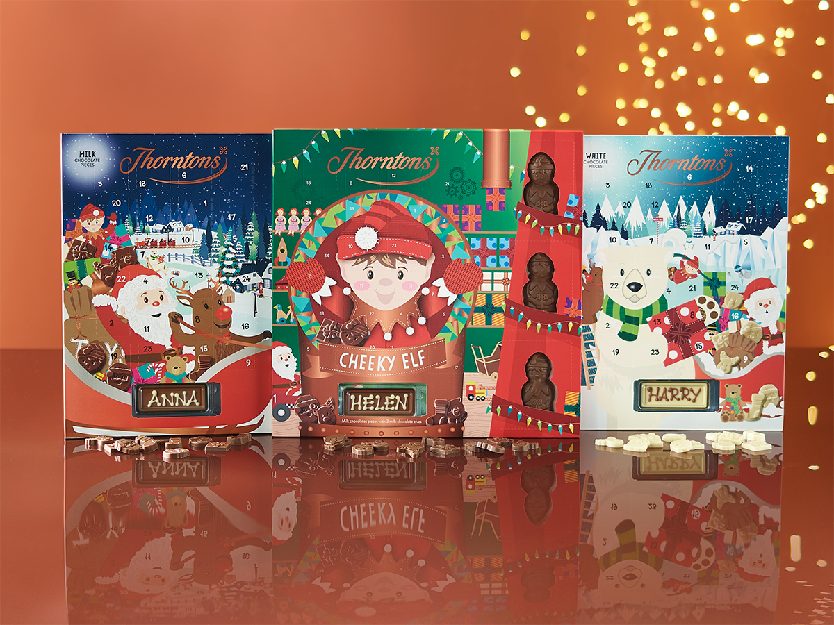 chocolate 3 for 2 advent calendars