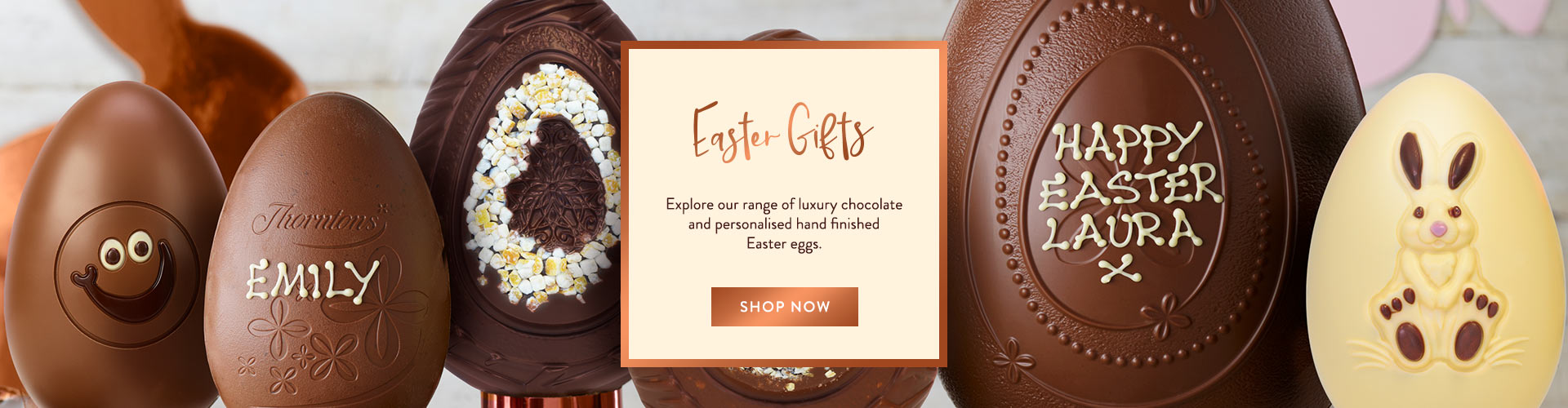 we've been producing incredible chocolate Easter eggs for almost a hundred years, which is why Easter isn't Easter without Thorntons.