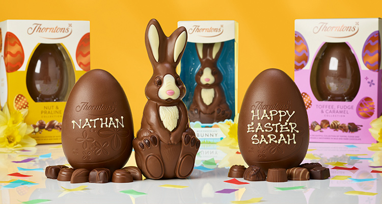 Get our delicious Easter eggs and chocolates at 2 for £12, 5 for £25 or 7 for £35.