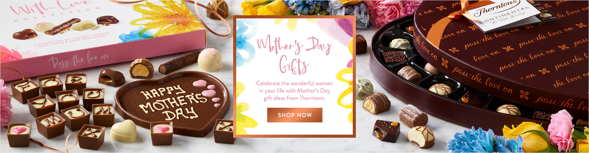 Whether she is your mum, step mum, grandma or someone else we have an extra special range of luxury Mother's Day chocolate gifts to make their day perfect