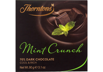 Mint Crunch Dark Chocolate Block
