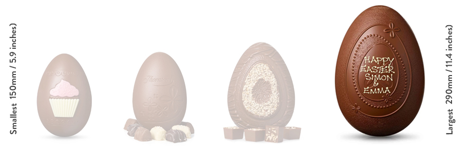 Marvellous Magnificent Easter Egg size comparison