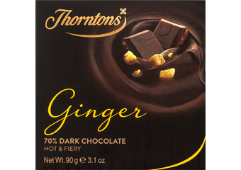 70% Dark Ginger Chocolate Block
