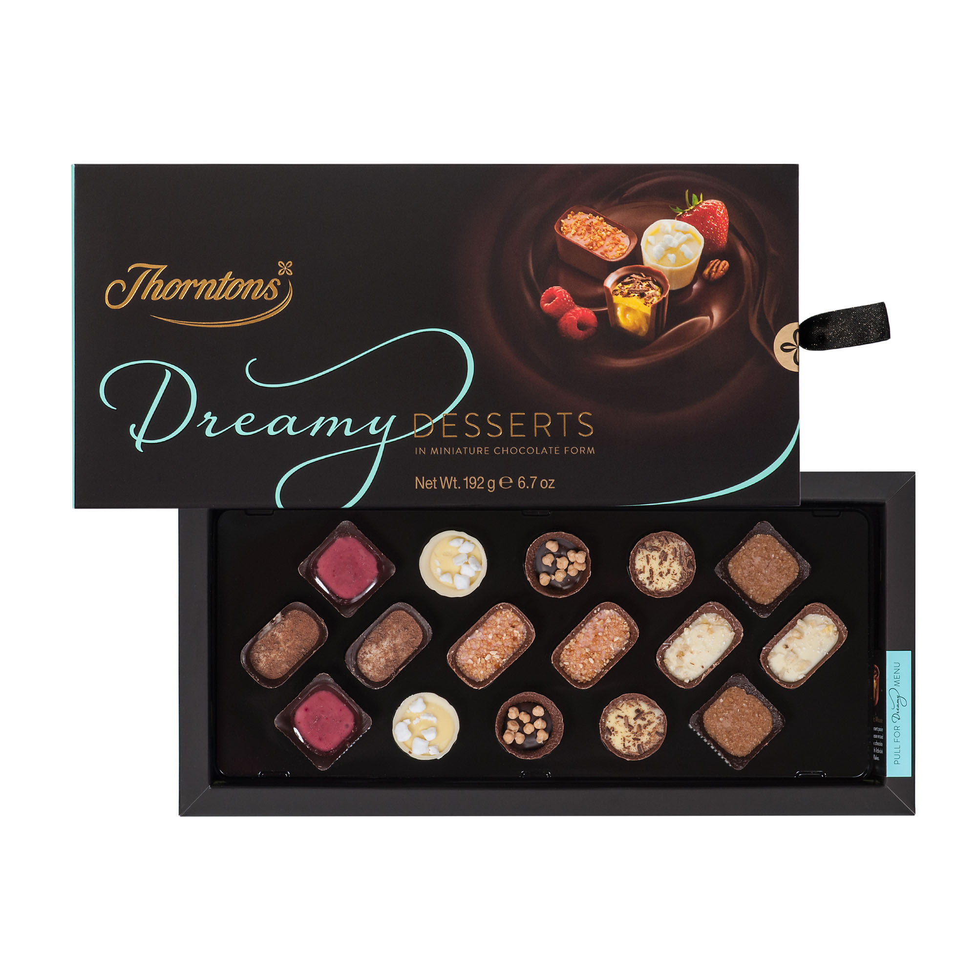 Thorntons offer a great range of delicious treats, including milk, white and dark chocolates, nutty truffles, smooth pralines and much more! Thorntons boxes make the perfect gift for the person with a sweet tooth in your life or for yourself!