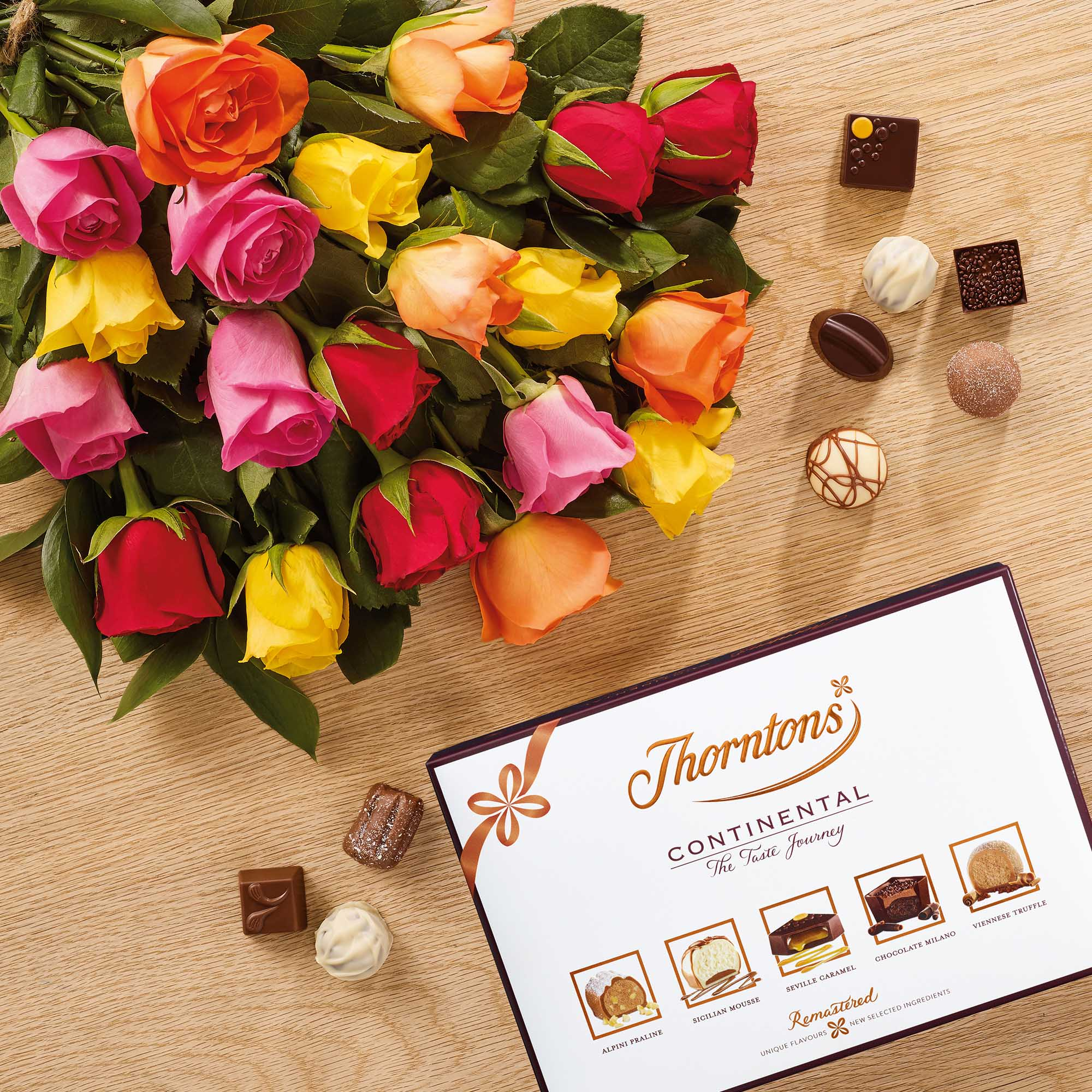 Premium fanfare roses and 142g continental chocolate flowers images izmirmasajfo