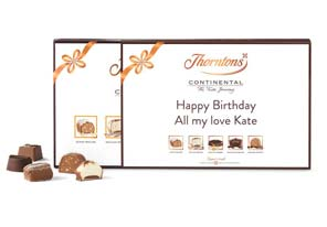 If you want to make the gift of Thorntons that little bit sweeter, try adding a personalised message. Whether you want a name or a short message, we're happy to help.